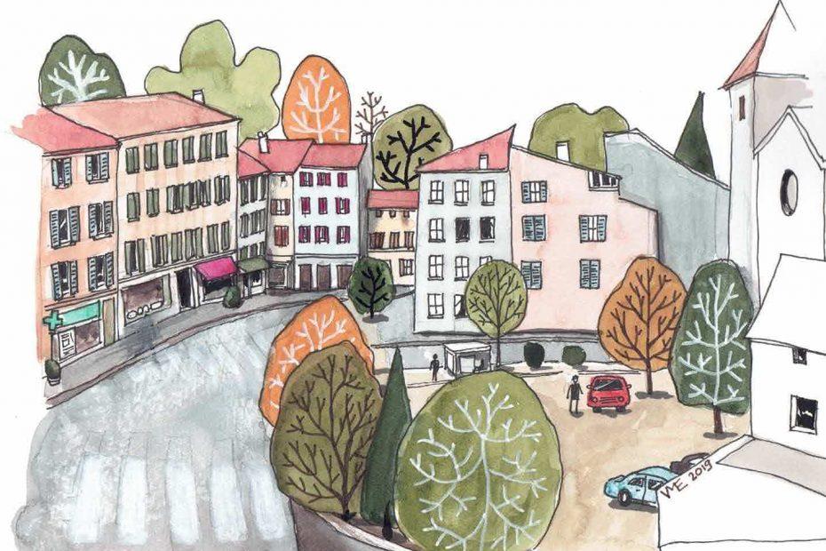 Illustration vue de Sainte Foy Lès Lyon