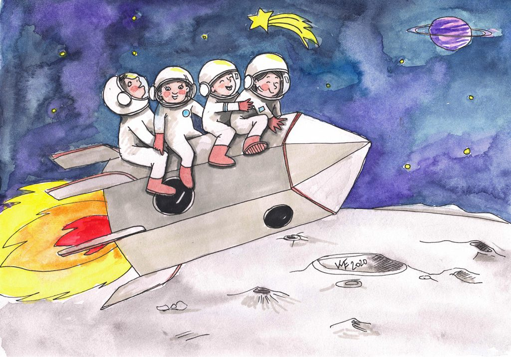 virginie menot illustration fusée