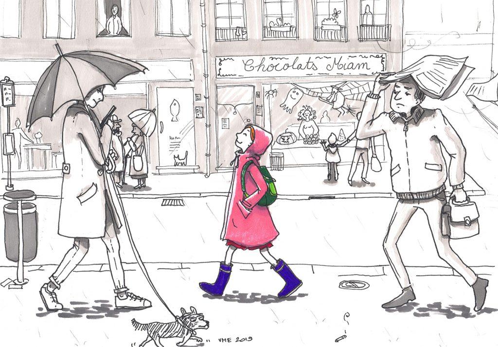 virginie menot illustration pluie